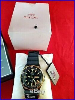 Orient RA-AA0005B19B Mako III 42MM Men's Black Rubber Watch For Parts/ Repair
