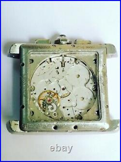 Orig Cartier 3666 tank chronograph watch case and movement parts repair project