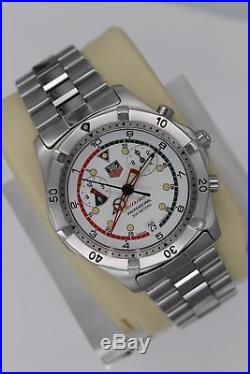 PARTS REPAIR Tag Heuer 2000 Watch Mens Searacer White Chronograph CK111R. BA0328