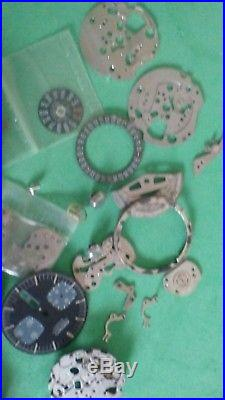 Parts-Repair Watch Seiko chronograph black 6138 0040 Bullhead As Is 6139