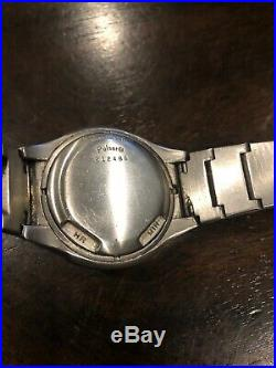 Pulsar led p4 wristwatch as is for parts or repair stainless steel case 37x45mm