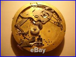 Quarter Repeater Chronograph, Pocket Watch Movement, 49 mm, To Repair or Parts