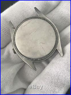 ROLEX OYSTER 6480 Waffle Dial 1958 34mm Men Watch! Parts Or Repair Not Working