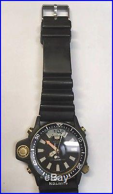 Rare Citizen Promaster Aqualand Divers 200m C029 Cq1071-50 Ana-digi Parts/repair