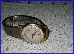 Rare Liban 17 Jewels Watch Brevet Swiss Triple Calendar Date For Parts or Repair