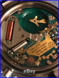 Rare Mens Breitling Model 81470 All Steel For Parts Or Repair