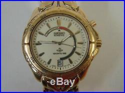 Rare Vintage Seiko Kinetic Sports 100 Lumibrite 5m42-0b09 Dial Parts Or Repair