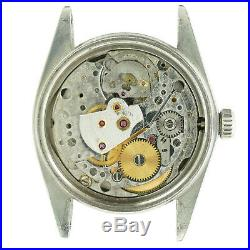 Rolex Datejust 16014 Silver Dial Mens Watch Head+movement For Parts Or Repairs