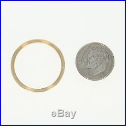 Rolex Fluted Bezel 18k Yellow Gold Watch Repair Parts