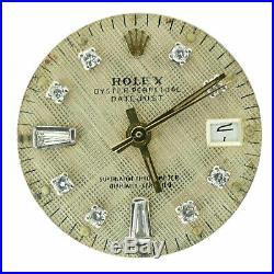 Rolex Ladies Datejust Gold Diamond Dial+calibre 2030 Movement For Parts/repairs