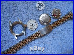 Rolex Lady DATEJUST Cal 2135 70% Complete Condition NOT Working 4 PARTS-REPAIR