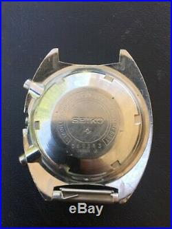 Seiko Chronograph Pogue 6139-6009 70M dial -Ticking- parts or repair Rare $1 NR