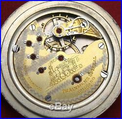 Seth Thomas Trainmens Special 18s 23j Pocket Watch OF Case Parts/Repair