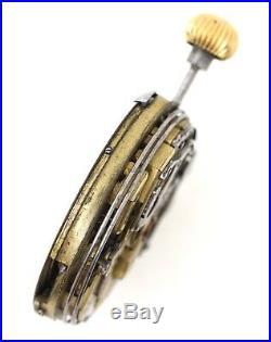 Swiss Repeating Half Hunter Chronograph Pocket Watch Movement Repairs H48