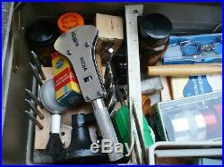 Tackle Box Loaded with Watchmakers Repair Tools, Parts, Oil, K&D, Vigor, Borel