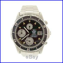 Tag Heuer 2000 Prof 273.206 Black Dial Chrono S. S. Mens Watch For Parts/repairs