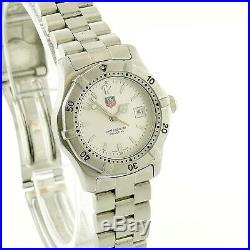Tag Heuer 2000 Series Prof Wk1312-0 Silver Dial S. S. Ladies Watch Parts/repairs