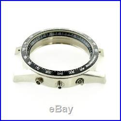 Tag Heuer Carrera Cv2013 Calibre 16 Black Bezel + S. S. Case For Parts Or Repairs