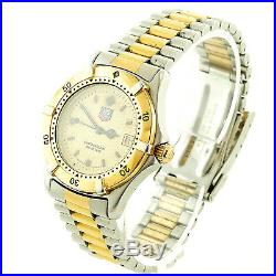 Tag Heuer Diver 964.013r Prof 2000 Gold Dial 2-tone S. S. MID Watch Parts/repairs