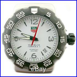 Tag Heuer Formula 1 Wac1111-0 White Dial S. S. Mens Watch Head For Parts/repairs