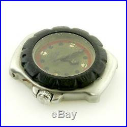 Tag Heuer Wa1411 Formula 1 Olive Dial Stainless Steel Watch For Parts/repairs