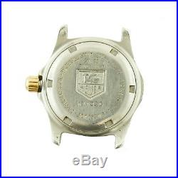 Tag Heuer Wk1320 Prof White Dial 2-tone S. S. Ladies Watch Head For Parts/repairs