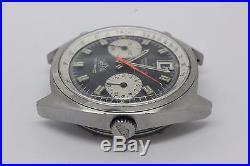 VINTAGE Heuer Carrera Mens Steel Automatic Chronograph Watch cal. 12 PARTS REPAIR