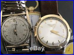 VINTAGE LONGINES Watches Lot Of 2 For Parts Or Repair Swiss Made 17 Jewels Gold