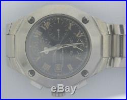 VTG BAUME & MERCIER Riviera Steel Chrono. Cal 7750. Parts Or Repairs