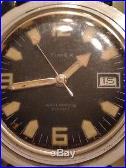 VTG Timex Skin Diver Men wrist watch WaterProof 200FT Original PARTS/REPAIR