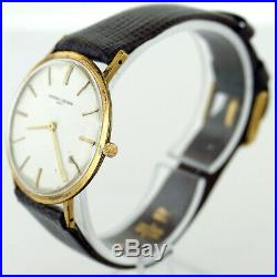 Vacheron & Constantin Silver Dial 18k Yellow Gold Mens Watch For Parts/repairs