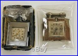 Vintage 1920s Triangle Lift Arm Cigarette Lighter Watch Lot Monroe Parts Repair