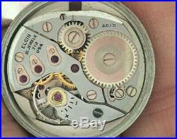 Vintage 21j Lord Elgin Chevron, Direct Read Jump Hour Watch, 14k GF-Parts/Repair