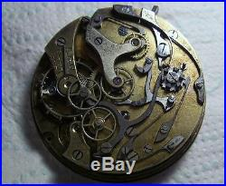 Vintage 43.4mm Pocket Watch Chronograph Movement Ticking! For SPARES / REPAIR