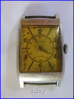 Vintage Art Deco Rolex Watch Wristwatch Mens Unisex Restoration or Parts Repair