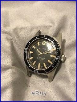 Vintage Benrus Ultra Deep 666 Skin Diver Watch Parts Or Repair
