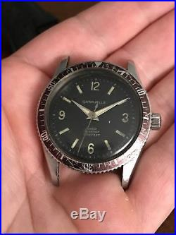 Vintage Caravelle 666 Feet Stainless Steel Diver Diving Watch Parts Or Repair
