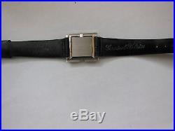 Vintage Germinal Voltaire 14k White Gold Watch Orig Alligator Band Parts Repair