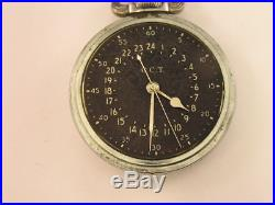 Vintage Hamilton GCT Military Pocket Watch for parts or repair