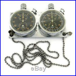 Vintage Heuer Autavia Rare Set Of Two S. S. Dash Mounted Timers For Parts/repairs