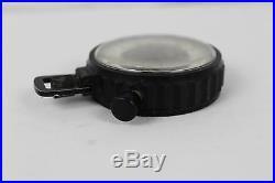 Vintage Heuer Black Military Stopwatch Black White Face Ref. 758.901 Parts Repair