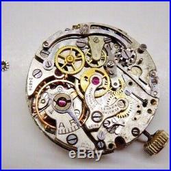 Vintage Lemania 27c Chronograph Partial Movement Parts Repairs defekt