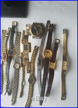 Vintage Lot Of 25 Seiko Watches For Parts Or Repair