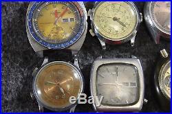 Vintage Lot of 10 Wrist Watches Seiko Citizen Tara For Parts or Repair