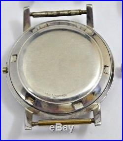 Vintage Movado Kingmatic 28 Jewel Men's Watch with Three Cases For Parts Or Repair