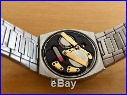 Vintage Omega Constellation TC3 1603 SS LED Digital Watch For Repair or Parts