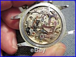 Vintage PIERCE, Chronograph, not running, movement looks clean, parts repair