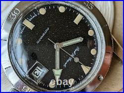 Vintage Paul Le Grande Diver Watch withAged Dial, All SS Case, Runs FOR PARTS/REPAIR