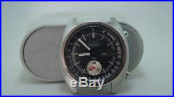 Vintage Seiko 6139-6012 Black Dial Automatic Chrono For Parts Or Repair Working