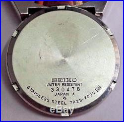 Vintage Seiko 7A28 7030 Pepsi Bezel Quartz Chronograph Parts